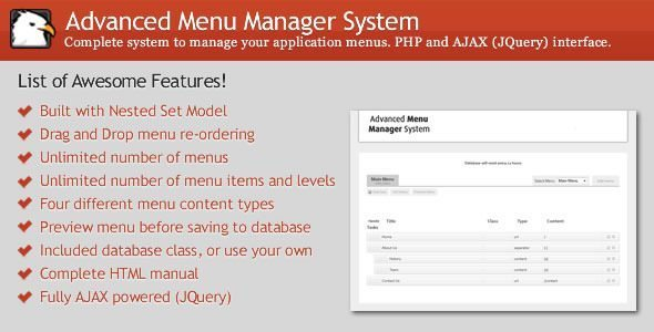 WordPress Advanced Menu Manager System