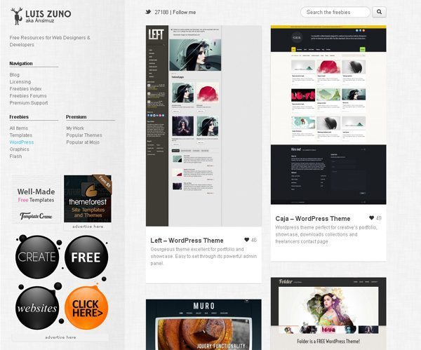 Luiszuno blog WordPress Themes