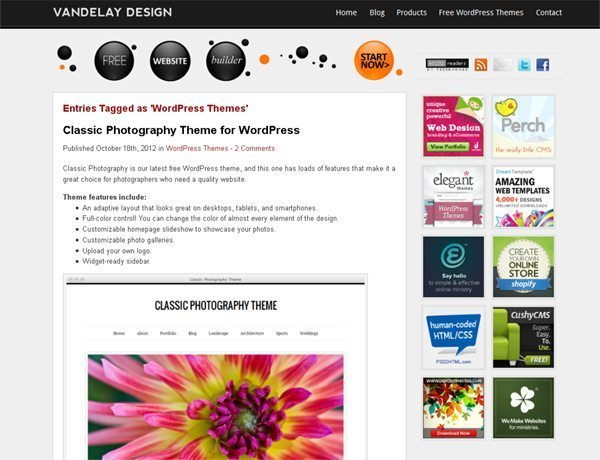 Vandelay Design WordPress Themes