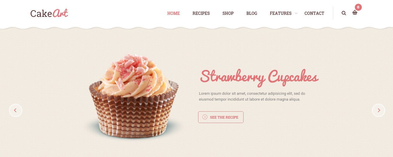 Cake Art Bakery : Best Bakery-Cake WordPress Theme Collection 2016