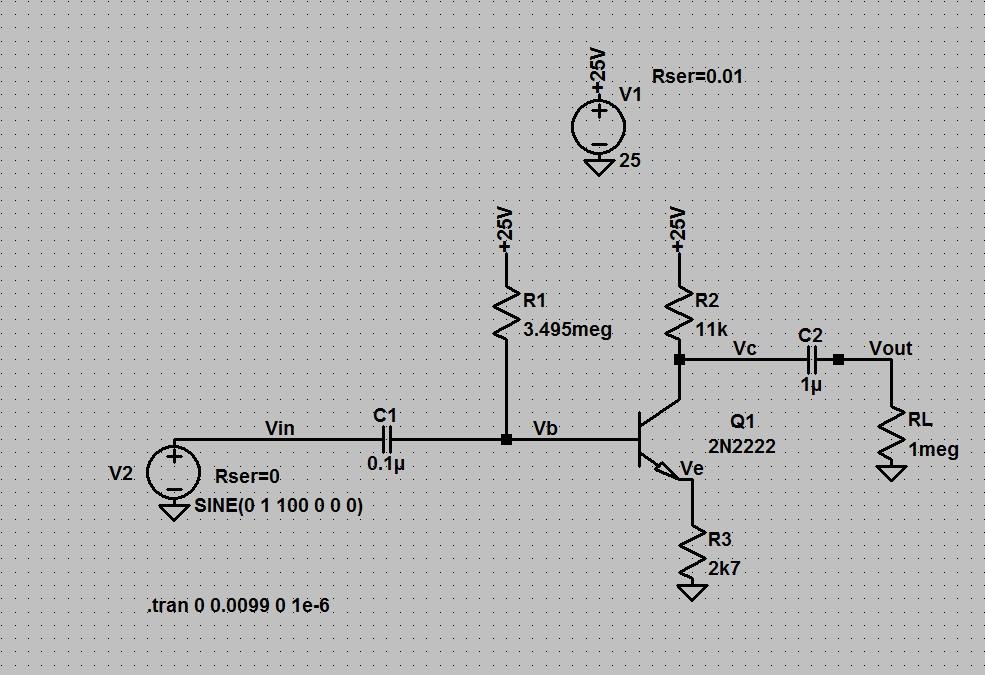 common emitter amplifier design