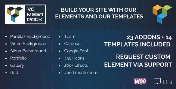 Visual Composer Mega Pack \u2013 Addons and Templates - Download Premium