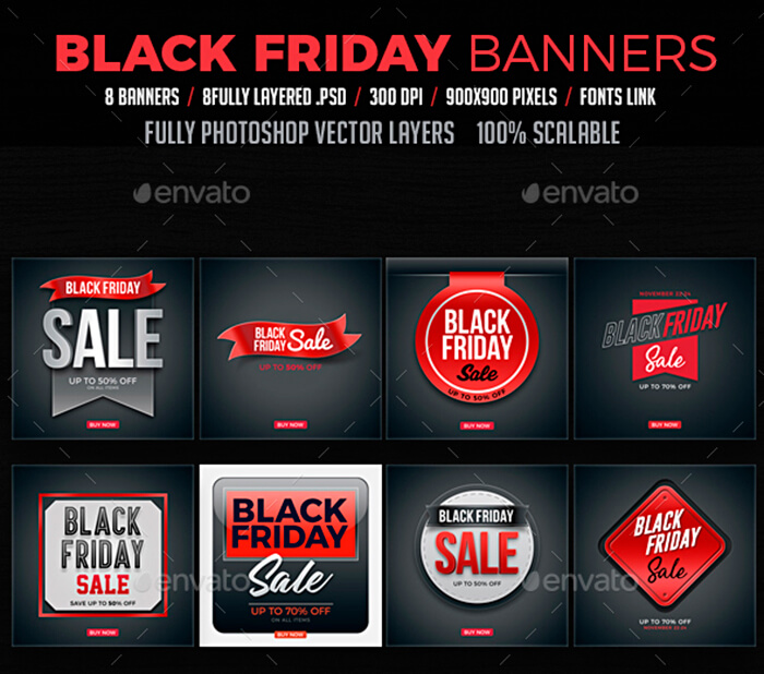 Black Friday Sales Banners, Ads, Sliders, Footage - WP Daddy