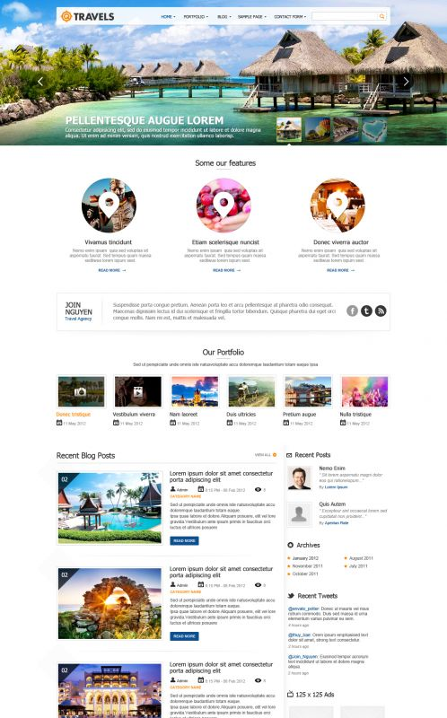 Travel Magazine WordPress Theme - Traveling WordPress Themes - wordpress travel themes