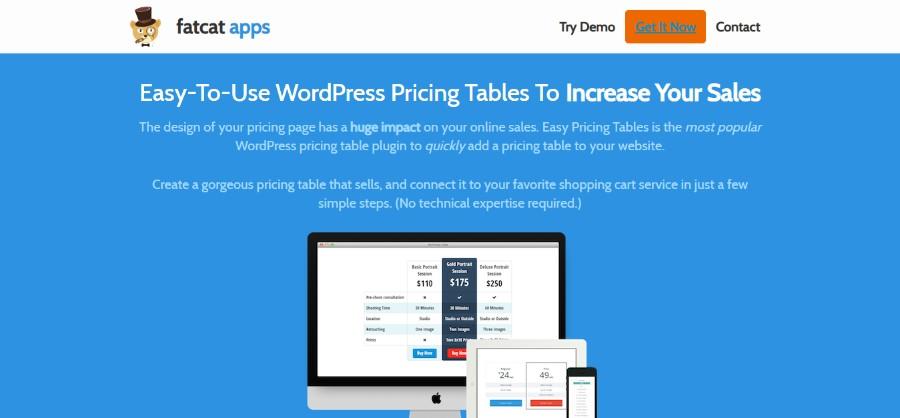 Wordpress Pricing Table Plugin - Free and Premium Pricing Table Plugin