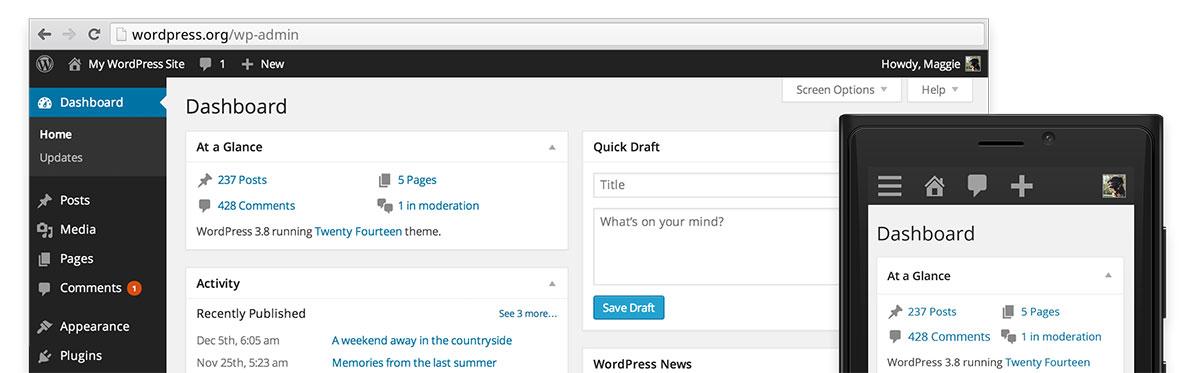 Wordpress 3.8 Parker - Amministrazione