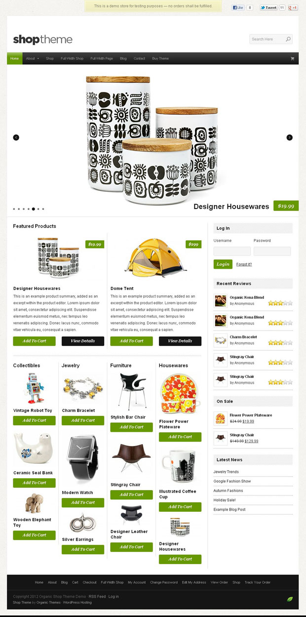 Organic Themes Premium Wordpress Themes WP Elegant WordPress