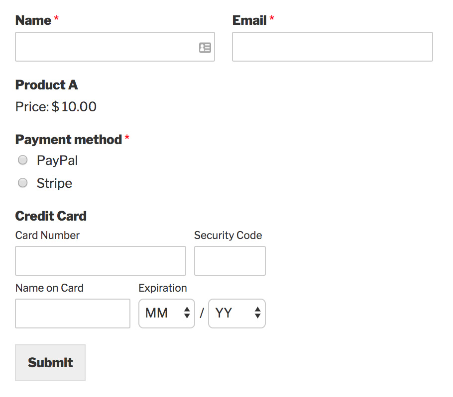 How to Allow Users to Choose a Payment Method on Your Form