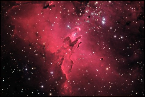 eagle nebula2 Its a Mystery!   Simulacrum in Eagle Nebula