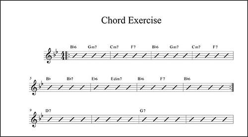 Create a Chord Chart with Finale - Finale - music chart