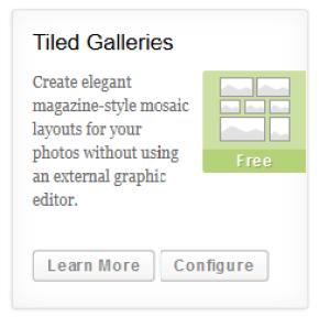 Configure Tiled Galleries