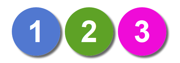 Colored Numbered Circles Using Pure Css Html