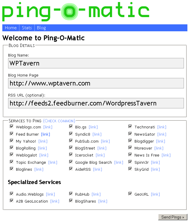 List Of Ping Options