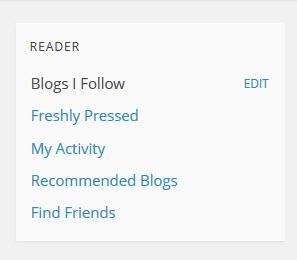 WordPress.com Right Hand Sidebar