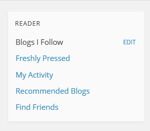 WordPress.com Right Hand Sidebar