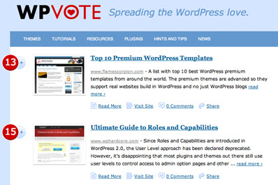 WPVote Front Page