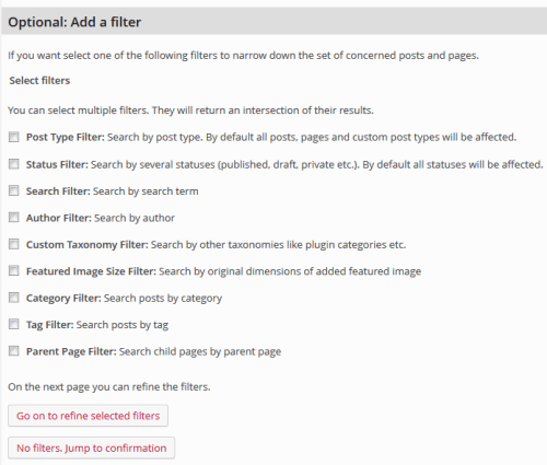 Filters Control Which Posts Are Modified