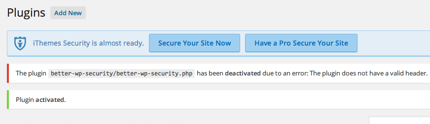 Just Re-activate The Plugin To Fix This Error