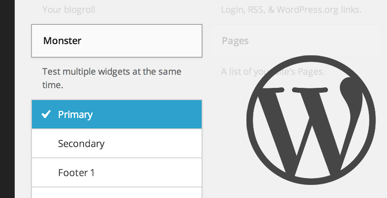 Monster Widget: A Useful WordPress Theme Testing Tool
