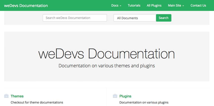 weDocs: A Free WordPress Documentation Theme Based on Bootstrap