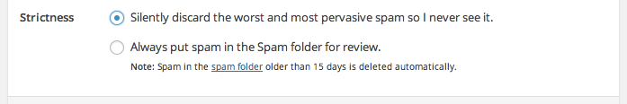 akismet-discard-spam-feature