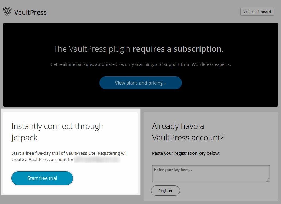 New Users Presented With A Free Trial Offer