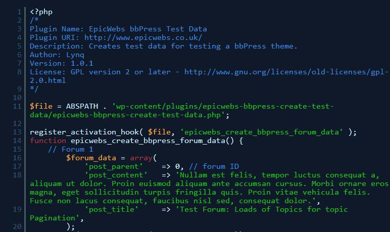 bbpress-test-data