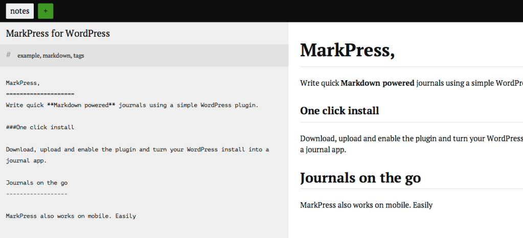 MarkPress Plugin Transforms WordPress into a Markdown-Powered Journal