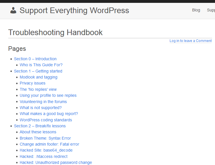 Troubleshooting Handbook Home Page
