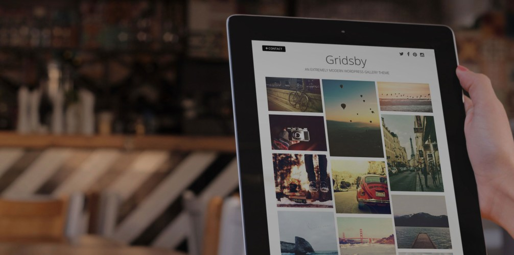 Gridsby: A Beautiful Free WordPress Theme for Photographers