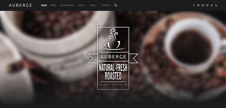 Auberge: A Beautiful Free Restaurant Theme for WordPress