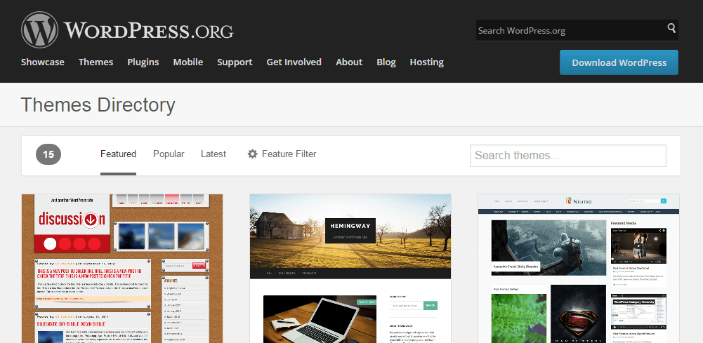 Preview the New Design for the WordPress Themes Directory
