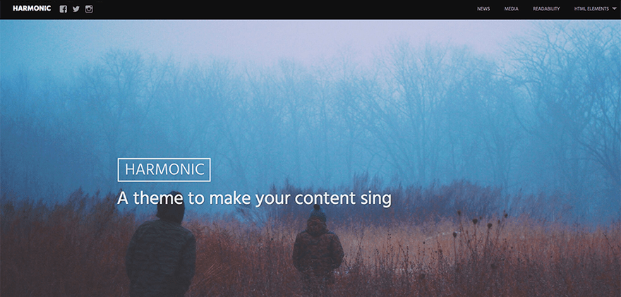 Harmonic: A Bold Free WordPress Theme for Artists and Bloggers