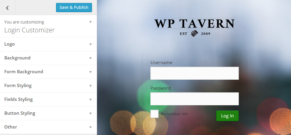 Customize Your Login Page Using the WordPress Customizer