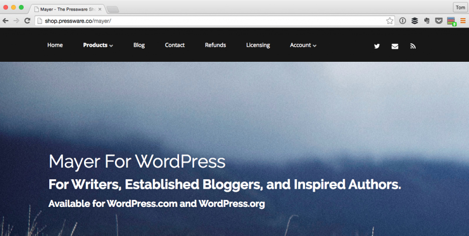 Mayer WordPress Theme is Now Open Source on GitHub