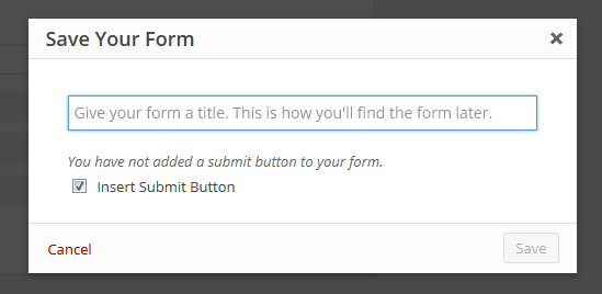 Ninja Forms 2.9 Submit Button