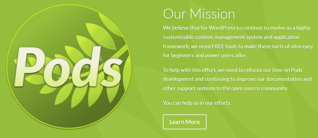 Friends of Pods Mission Statement