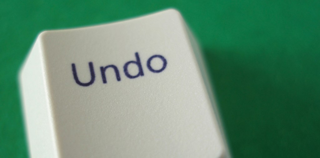 The undo key from a computer keyboard