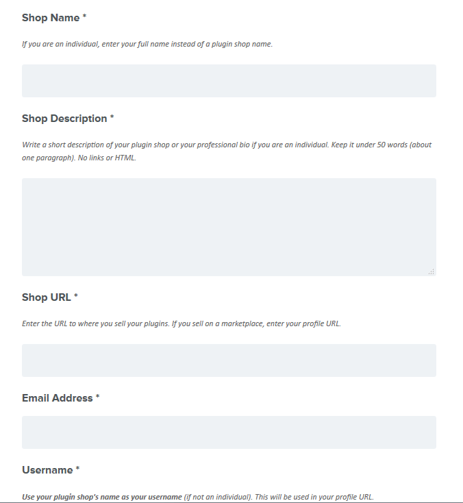 Pro Plugin Directory Submission Form