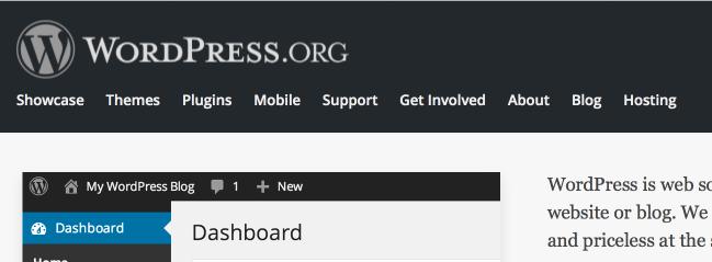 WordPress Mark in Use