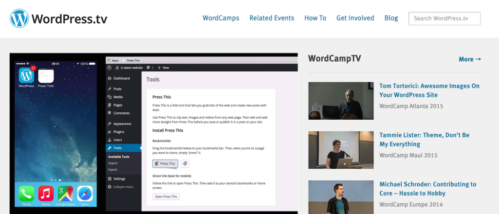 WordPress.tv is Branching Out Into Beginner Tutorial Videos