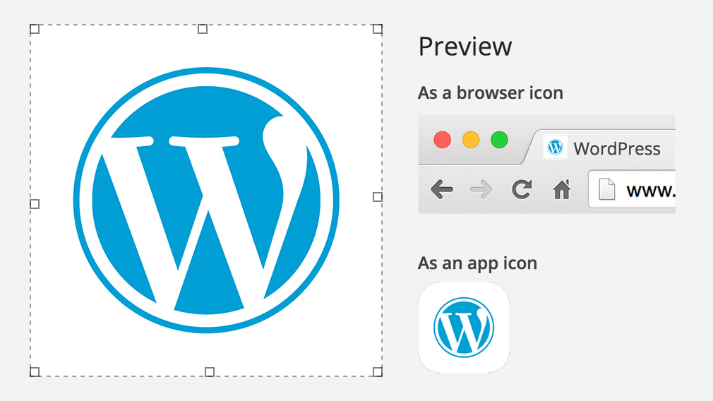 Site Icons in The Customizer