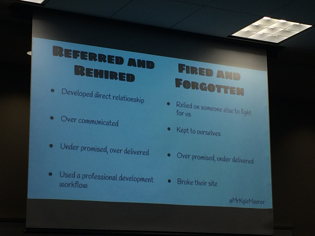 A Slide from Kyle Maurer's Presentation