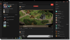 Xbox Dashboard Showcasing Game Hub