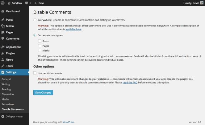 disable-comments