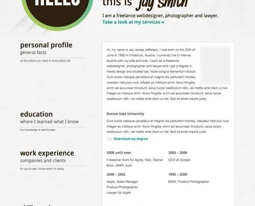 6 Best WordPress Resume \/ CV Templates - wordpress resume template