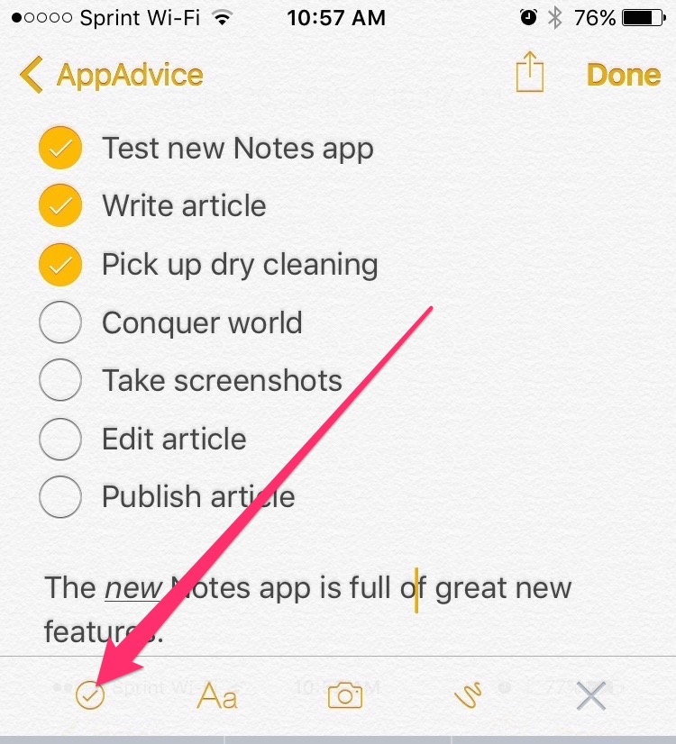 What are the top new features in iOS 9\u0027s Notes app?