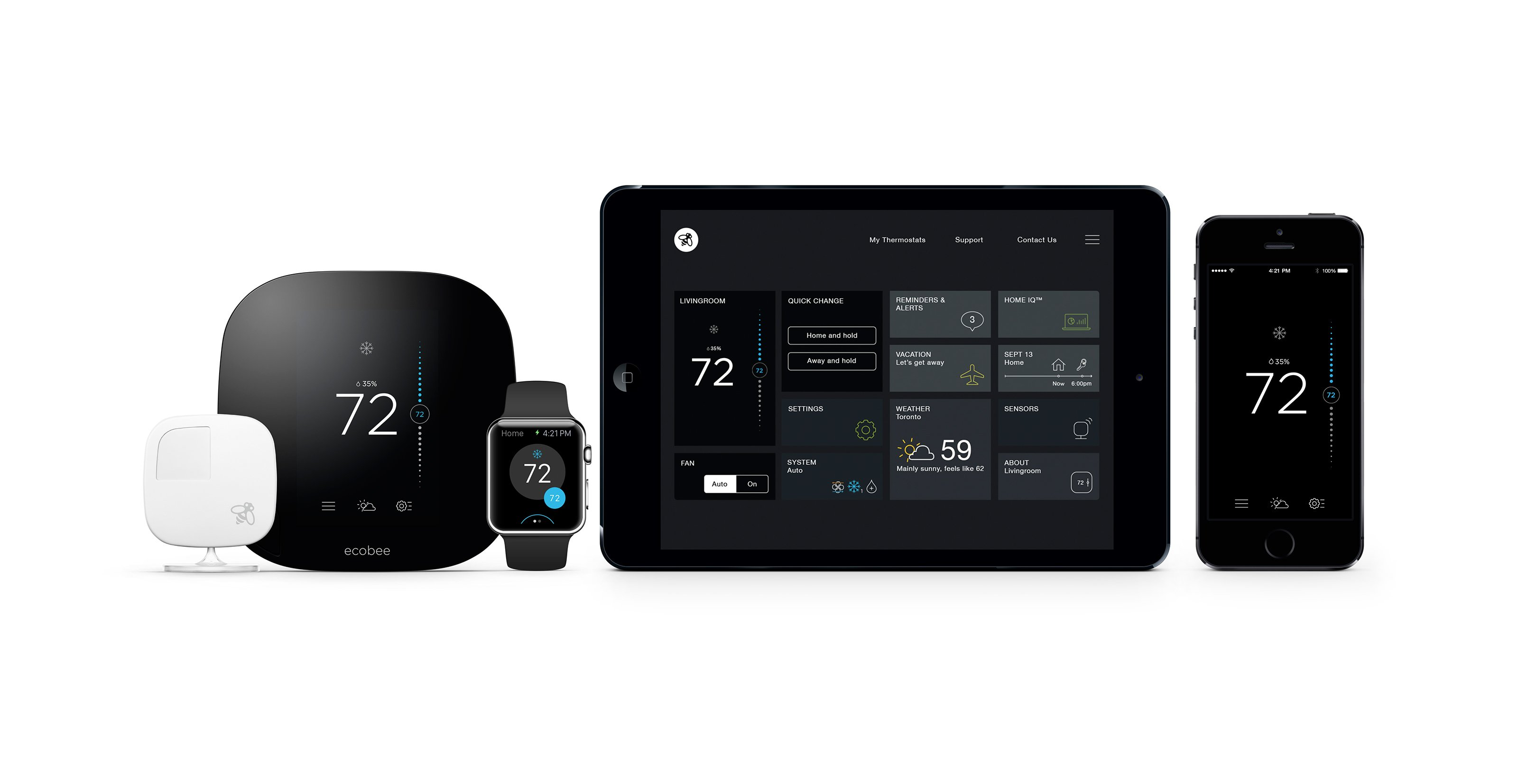 Ecobee Sensor Review Ecobee3 Smart Thermostat With Apple Homekit Support