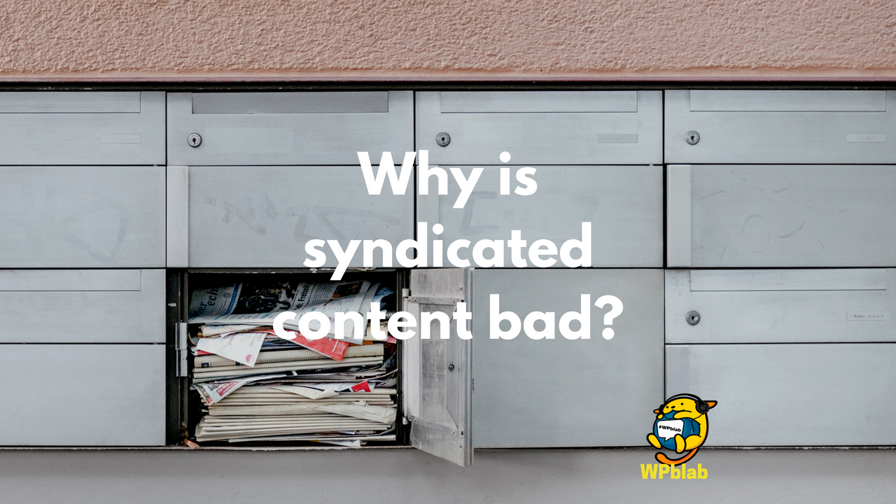 Sideboard Bad Wpblab Ep110 Why Is Syndicated Content Bad Wpwatercooler