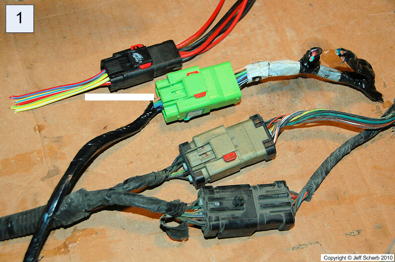 Hardtop wiring converting plugs to match different years Jeep